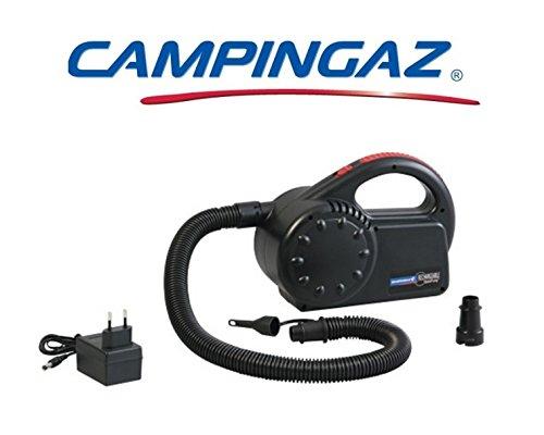 Pumpe Luftpumpe und sgonfiatore Quickpump Campingaz Akku mit Stromversorgung 230V ideal für Sitzauflagen und Schlauchboote–mit borasa er Transport