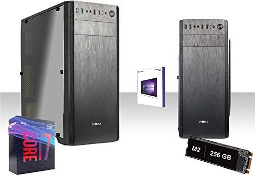 PC DESKTOP COMPLETO INTEL i7-9700K 4.9GHZ  Graphics 630 4K RAM DDR4 8GB 2666MHZ Ssd M.2 256GB+HD 1TB WIFI 300MBPS LICENZA WINDOWS 10 PRO VGA,DVI,USB 2.0,3.0,EDITING, UFFICIO,GRAFICA,GAMMA PC M.2