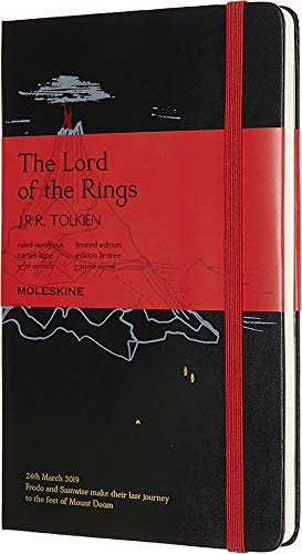 Moleskine Notizbuch - Herr der Ringe, Large, A5, Liniert, Hard Cover, Schicksalsberg
