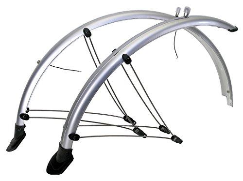 M-Wave Schutzblech-Set, für Vorder- und Hinterrad, flexibles Kunststoffblech