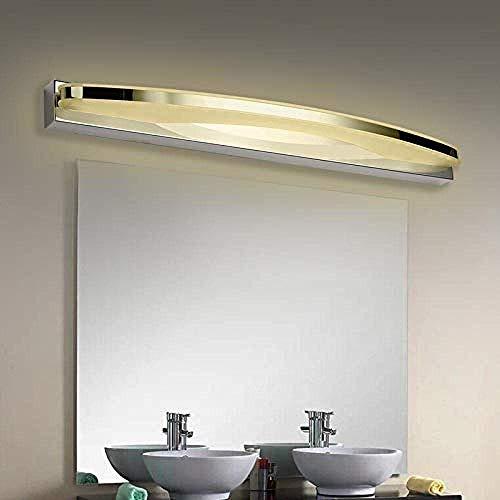 Meixian Wandlamp voor binnen, modern, 7 watt, 9 watt, LED-badkamerspiegel, acryl, lampenkap, roestvrij staal, verlichting thuis, 110 – 240 V, warm wit 7 watt lengte 39 cm eenvoudig retro