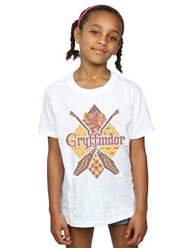 HARRY POTTER niñas Gryffindor Lozenge Camiseta 12-13 Years Blanco