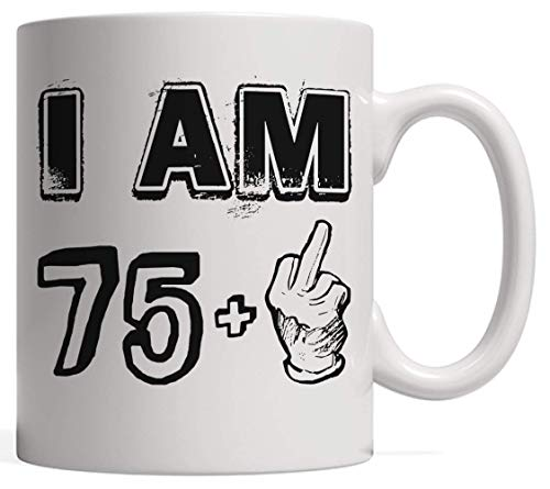 Funny Seventy Six Years Old Gift, 75 + Middle Finger - Legends are Born in 1941 | Vintage 76th Birthday & Anniversary Bday Mug - Life Begins at 76 | for Your Friends Who Love Sarcasm & Irony