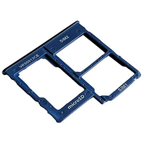 Samsung Galaxy A40 (SM-A405F/DS) Bandeja Tarjeta Dual SIM y Soporte Micro-SD Hybrid, Repuesto Original, Azul