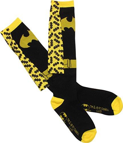 Batman knie hoge sokken met bedrukte Cape (één paar)