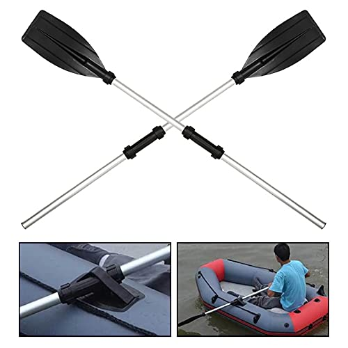 Aleación de aluminio Desmontable Remos Flotador Afloat Rafting Paddle Fitting Barco Canoa Remo Náutico 126cm Accesorios