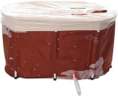 GL-GDD Bañeras plegables Bañeras portátiles Bañeras para duchas con tapas y espuma de aislamiento grueso para utilizar para bañera-barril+tapa+bolsa