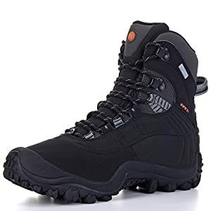 XPETI Men's Thermator Mid-Rise Waterproof Hiking Trekking Insulated Outdoor Boots Black 10.5