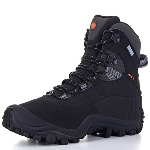 XPETI Men's Thermator Mid-Rise Waterproof Hiking Trekking Insulated Outdoor Boots Black 7