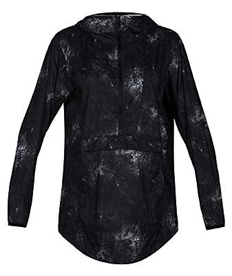 Hurley Women's Pullover Hoodie Winbreaker Rain Jacket, Black, XS from Hurley