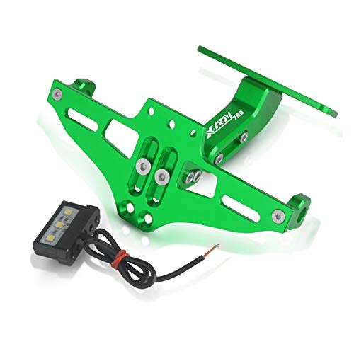 Universal License Plate Frame FOR HON-DA XADV750 XADV 750 2017 2018-2020 Motorcycle License Number Plate Frame Holder Bracket Adjustable Angle With Light (Color : Green)
