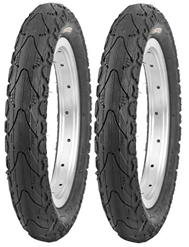 P4B | 2 neumáticos infantiles de 20 pulgadas (47-406) | 20 x 1,75 | neumáticos de trekking con tacos en los laterales para un funcionamiento óptimo en carreteras, grava, caminos forestales.