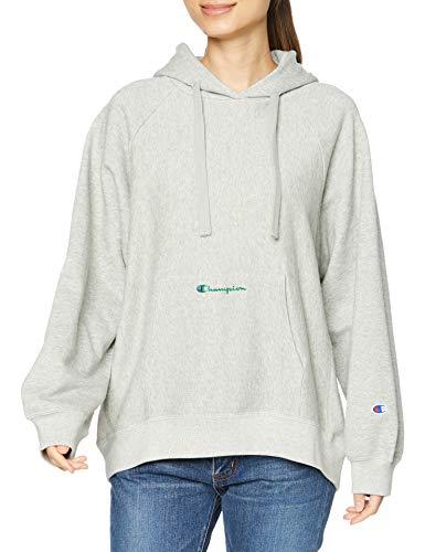 [チャンピオン] パーカー 綿100% スクリプトロゴ リバースウィーブ フーデッドスウェットシャツ CW-T101 レディース オックスフォードグレー L