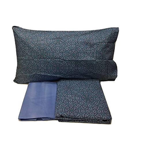 Bassetti Funda nórdica individual Pattern azul – Individual (155 x 200 cm) – CopSBassetti163