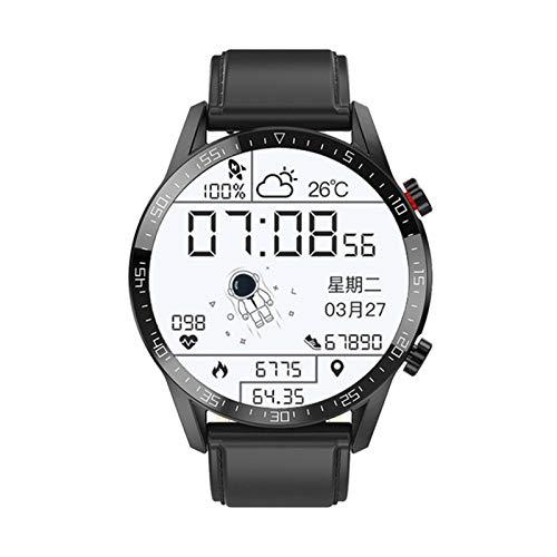 LAB 2021 Nuevo E12 Smart Watch Mascule y Femenino Bluetooth Call Custom Dial Pantalla táctil Completa Impermeable Deportes Fitness Tracker para Android iOS,C