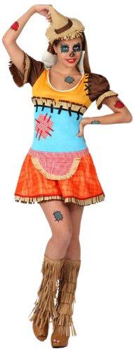 Atosa- Disfraz mujer espantapájaros, XS-S (16459)
