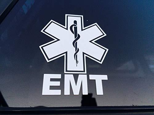 CLIFFBENNETT EMT Vinyl Decal, EMT Sticker, Emergency Medical Technician Decal, First Responder Decal, Medical Sticker, Medical Decal