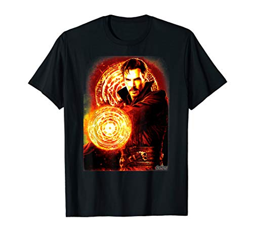 Marvel Infinity War Dr. Strange Fire Symbol Graphic T-Shirt