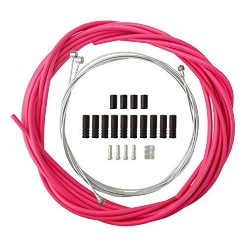 Rayocon Wire for Bicycle Bike Shifters Derailleur Brake Cables Cable Tube 4mm/5mm Road Bike Shifter Brake Cable Line Pipe Pink