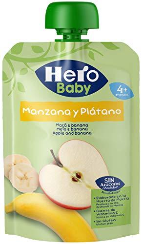 Hero Baby Bolsita Fruta Manzana Plátano, 100g