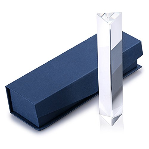 Sumnacon Photography Prism Crystal Glass Triangular Prism Full Rainbow Color Spectrum Best for Photography (6')