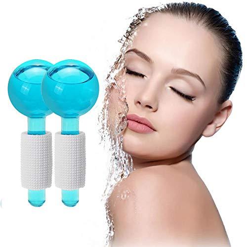 QIYE 2pcs Gesichtskühlung Ice Globe Ball, Magic Massager Roller Tool, zum Schrumpfen der Poren, zur Gesichtsstraffung. und Schwellungen, Migräne, Schmerzlinderung und leichte Verletzungen