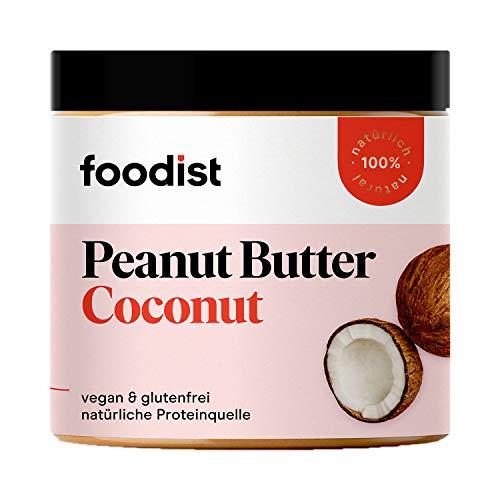 Foodist Erdnussbutter, Peanut & Coconut Butter, 250g, vegan, glutenfrei und ohne Zuckerzusatz oder Palmöl, reichhaltig an ungesättigten Fetten aus 100 % gerösteten Hi Oleic Erdnüssen