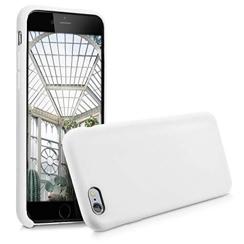 kwmobile Funda para Apple iPhone 6 / 6S - Funda Carcasa de TPU para móvil - Cover Trasero en Blanco