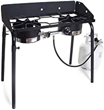 2 burner propane stove with stand
