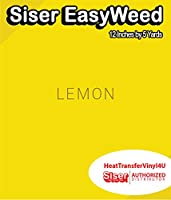 Siser EasyWeed アイロン接着 熱転写ビニール - 12インチ 5 Yards HTV4USEW12x5YD
