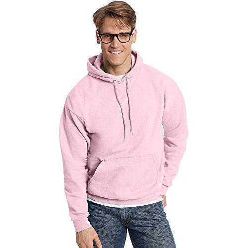 Hanes ComfortBlend EcoSmart Pullover Hoodie Sweatshirt_Pale Pink_4XL