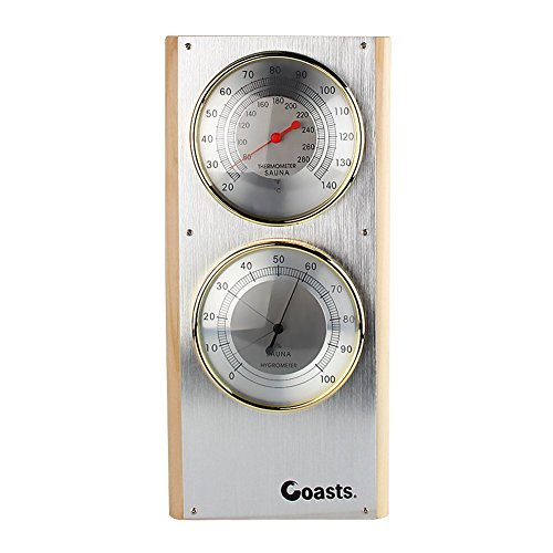 Jian Ya NA Edelstahl Sauna Thermometer Hygrometer Vertikal 7.7