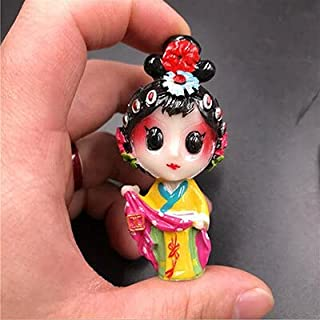 ZILLE - Fridge Magnets - Refrigerator Stickers Peking Opera Drama Characters Cartoon Stickers Resin Spring Face Three-dime...