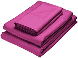 Home Source International 100% Rayon from Bamboo Fitted Sheet King Berry
