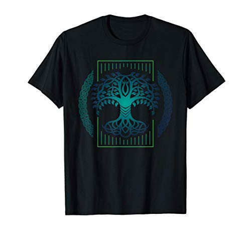 yggdrasill or viking Design for celtic knot tree of life T-Shirt