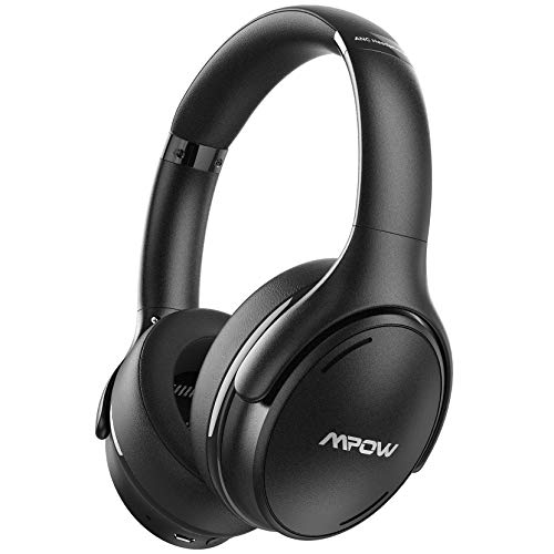 Mpow H19 IPO Active Noise Cancelling Headphones, Bluetooth 5.0 Wireless Headphones with CVC8.0 Mic, Hi-Fi Stereo Deep Bass, Quick Charge 35H Playtime for Kids, Adults, TV, Online Class, Home Office