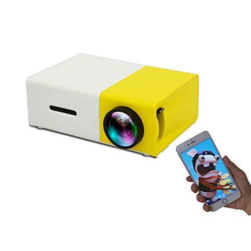 WUYANJUN Proyector, Mini proyector de Video LED para Cine en casa, para TV Stick, Reproductor de DVD para Videojuegos, teléfono Inteligente para Cine en casa, Puerto USB Dual.