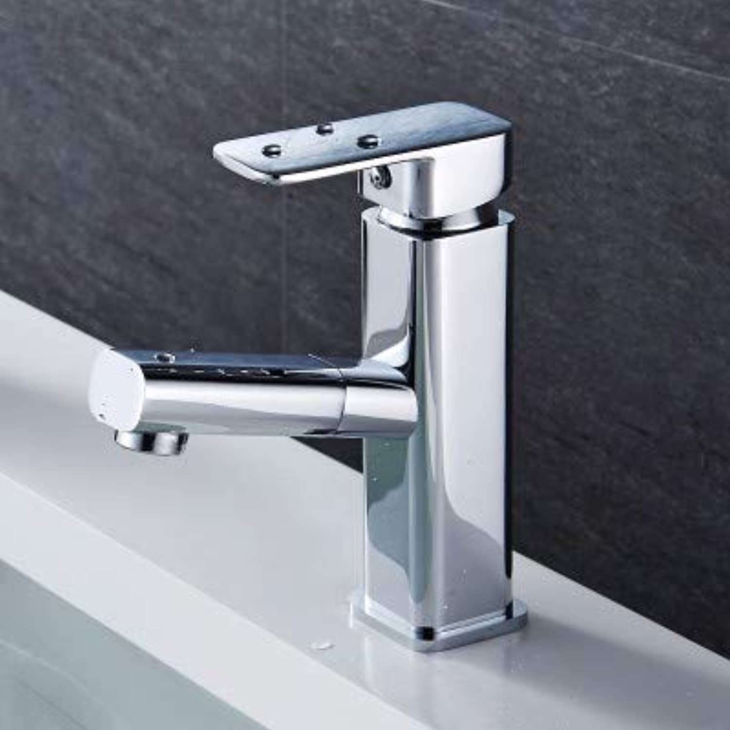 Kitchen Tap Copper Bathroom Single Hole Basin Faucet Hot and Cold Wash Basin Pull Faucet Kitchen Taps Kitchen Sink Mixer Taps Basin Tap