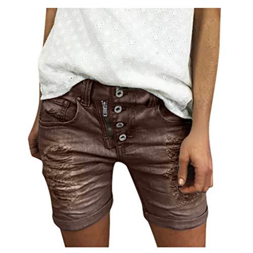 WINJIN Short Jean Femme Short Casual Vintage Bermuda Chic Ete Pantalon Court Denim Déchirés