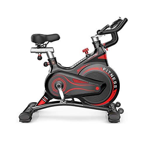 HHHKKK Bicicleta de Spinning Bicicleta Indoor Niveles de Resistencia Ajustables Manillar Ajustable y Asiento Cojín Cómodo y Transpirable Bicicleta Estática Plegable