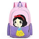 Bleyoum Mochila escolar Mochila escolar serie 2021 Blancanieves con estampado de dibujos animados lindo Mochila de anime Mochila escolar para estudiantes de tendencia de moda rosa púrpura