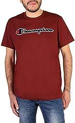 Camiseta Champion Gráfica Rojo Oscuro Cuello Redondo para Hombres
