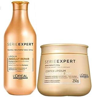 Kit Shampoo 300ml + Máscara 250g Absolut Repiar Lipidium Loreal Edição Limitada
