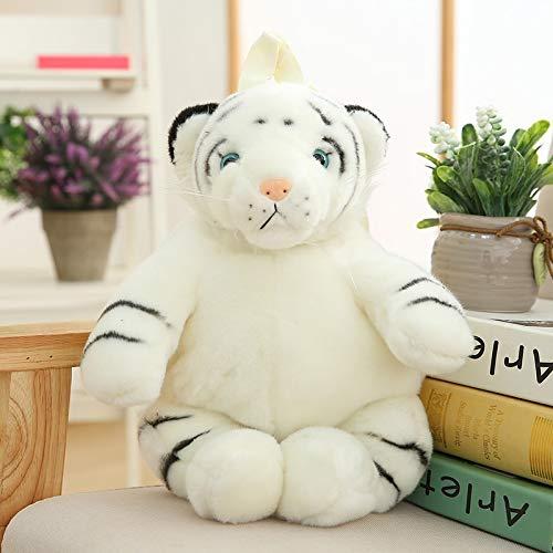 MEKTSA 40cm Mochilas de Animales de Peluche Mochila de Cosas para niños Leopardo Tigre Panda Oso Polar Jirafa Mochila Escolar 40cm whitetiger