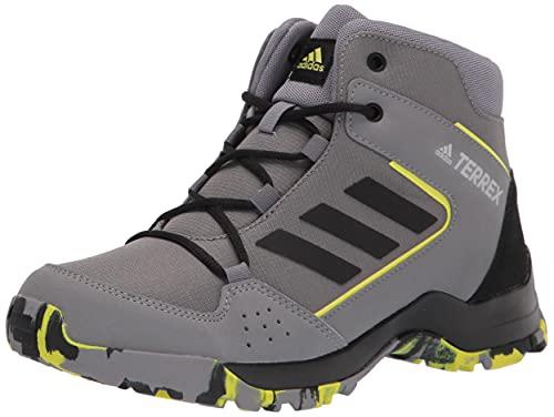 adidas unisex child Terrex Hyperhiker Hiking Shoe, Grey/Black/Grey, 4 Little Kid US