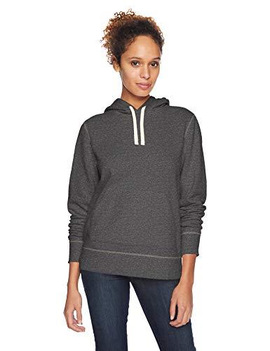 Amazon Essentials – Sudadera de tejido de rizo francés con capucha y forro polar para mujer, Gris (Charcoal Heather), US L (EU L - XL)