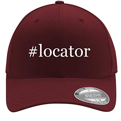 #Locator - Adult Men's Hashtag Flexfit Baseball Hat Cap, Maroon, Large/X-Large