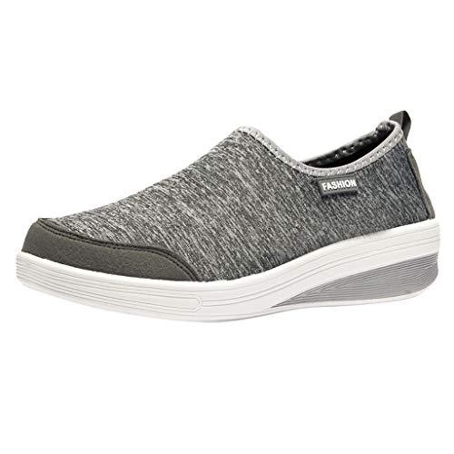 Dames schoenen mode vrouwen mesh verhoging schoenen zachte Bottom Rocking schoenen wandelschoenen sneaker gymschoenen vrijetijdsschoenen By Vovotrade