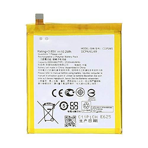 Ellenne Batteria Compatibile con ASUS ZENFONE 3 ZE520KL ZB501KL C11P1601 AD Alta capacità 2650MAH con Kit SMONTAGGIO Incluso by Store