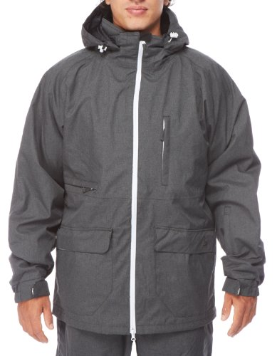 Light Herren Snowboardjacke Foster, Dark Grey Heather, S, FA861-13
